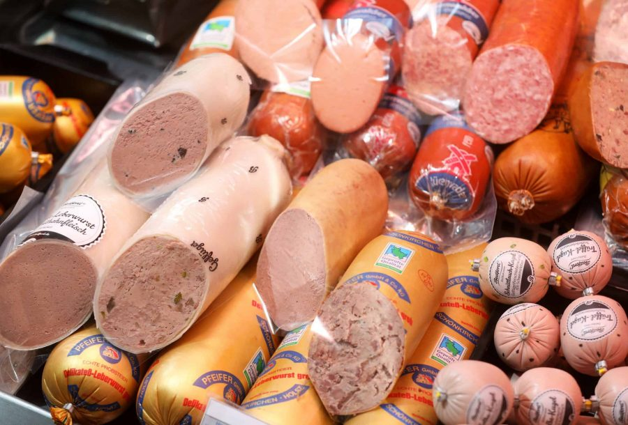 Leberwurst, Zwiebel und Trüffel